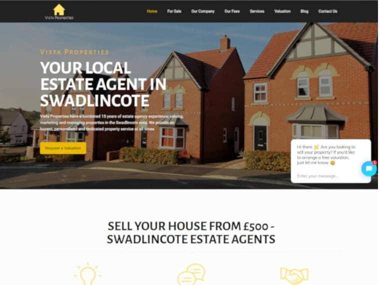 Vista Properties Web Design