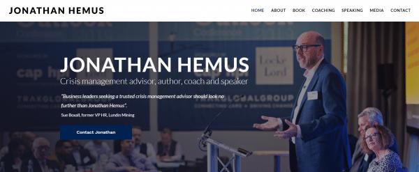 Jonathan Hemus Website