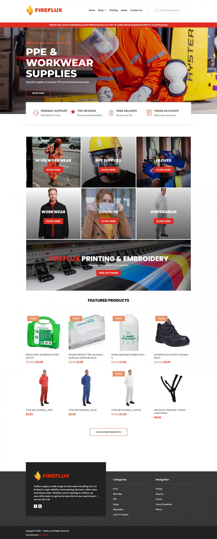 Fireflux Divi Woocommerce Website inspiration