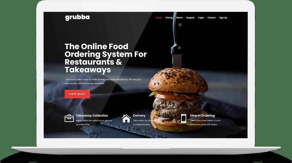 Grubba Web site mockup