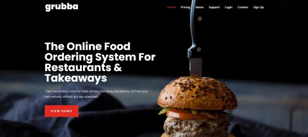 Grubba Restaurant Web Design