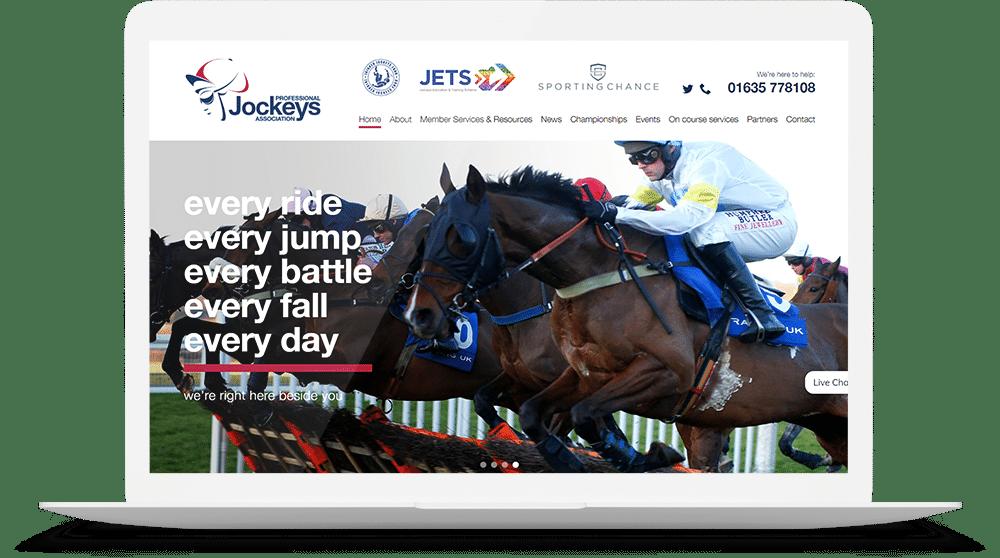 The PJA Website mockup