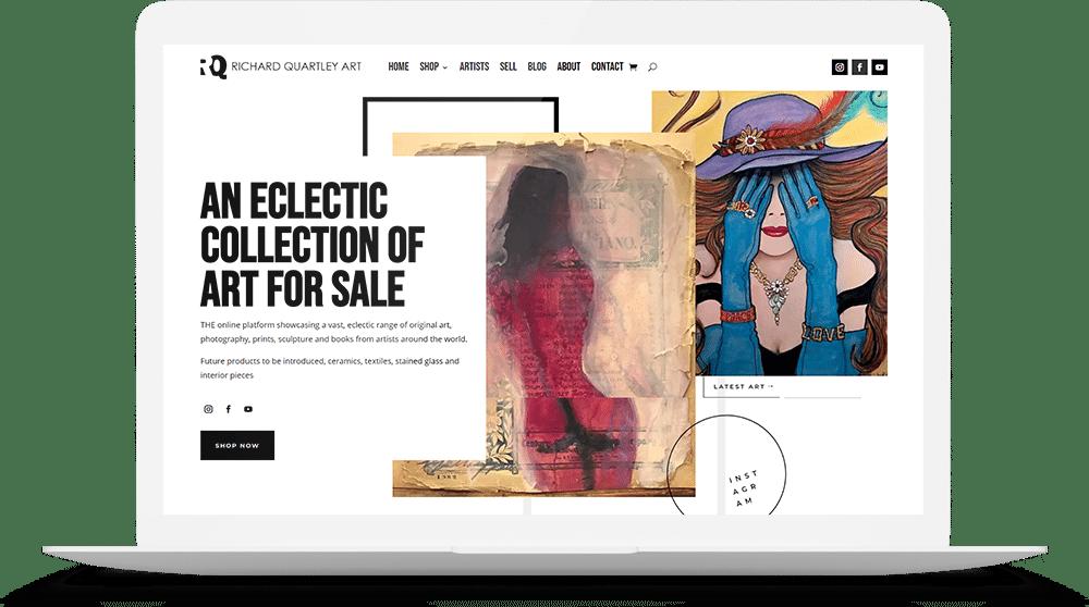 Richard Quartley Art Website Design