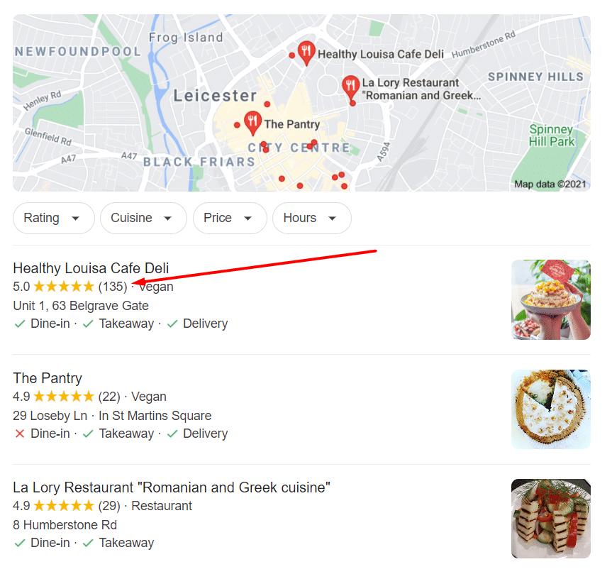 Google Reviews for Local SEO